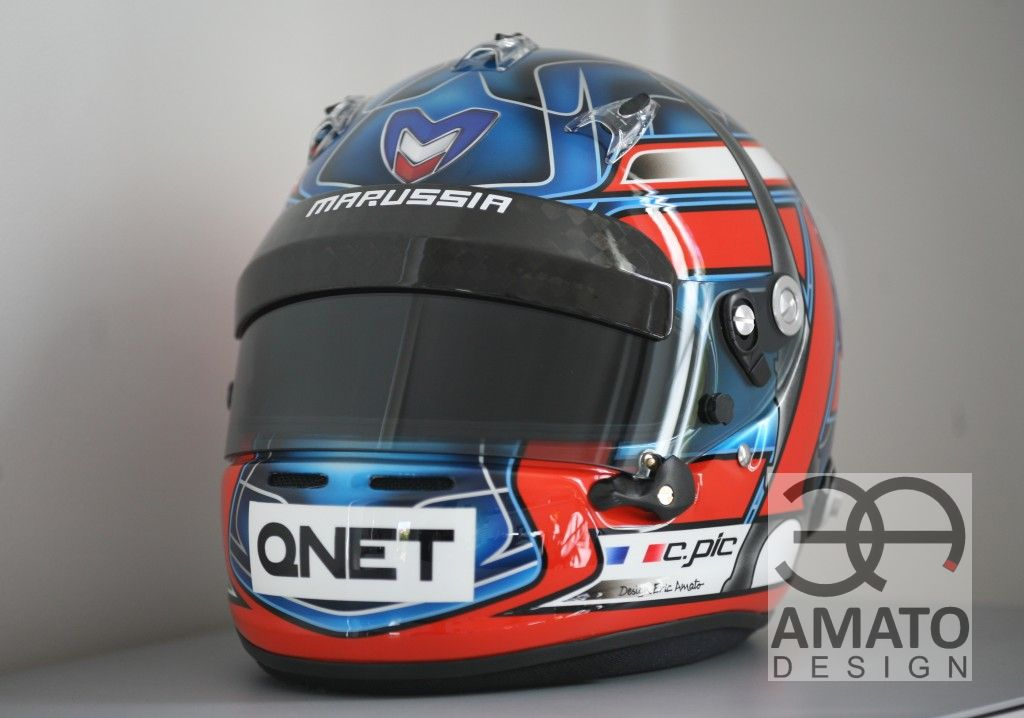 Casque Charles PIC - F1 2012