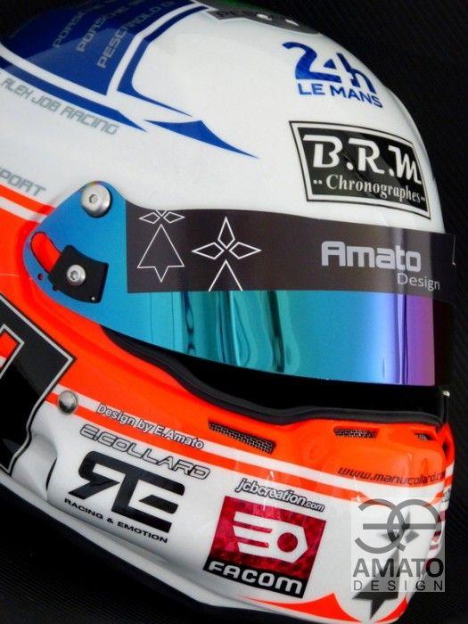 Design de casque d'Emmanuel Collard Le Mans 2014