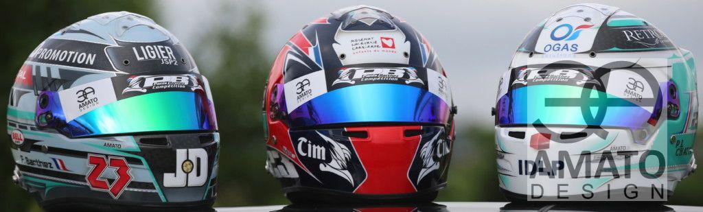 Casques équipe PANIS-BARTHEZ COMPETITION Le Mans 2016