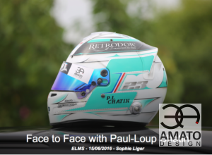 24H du MANS - Casque Paul Loup CHATAIN