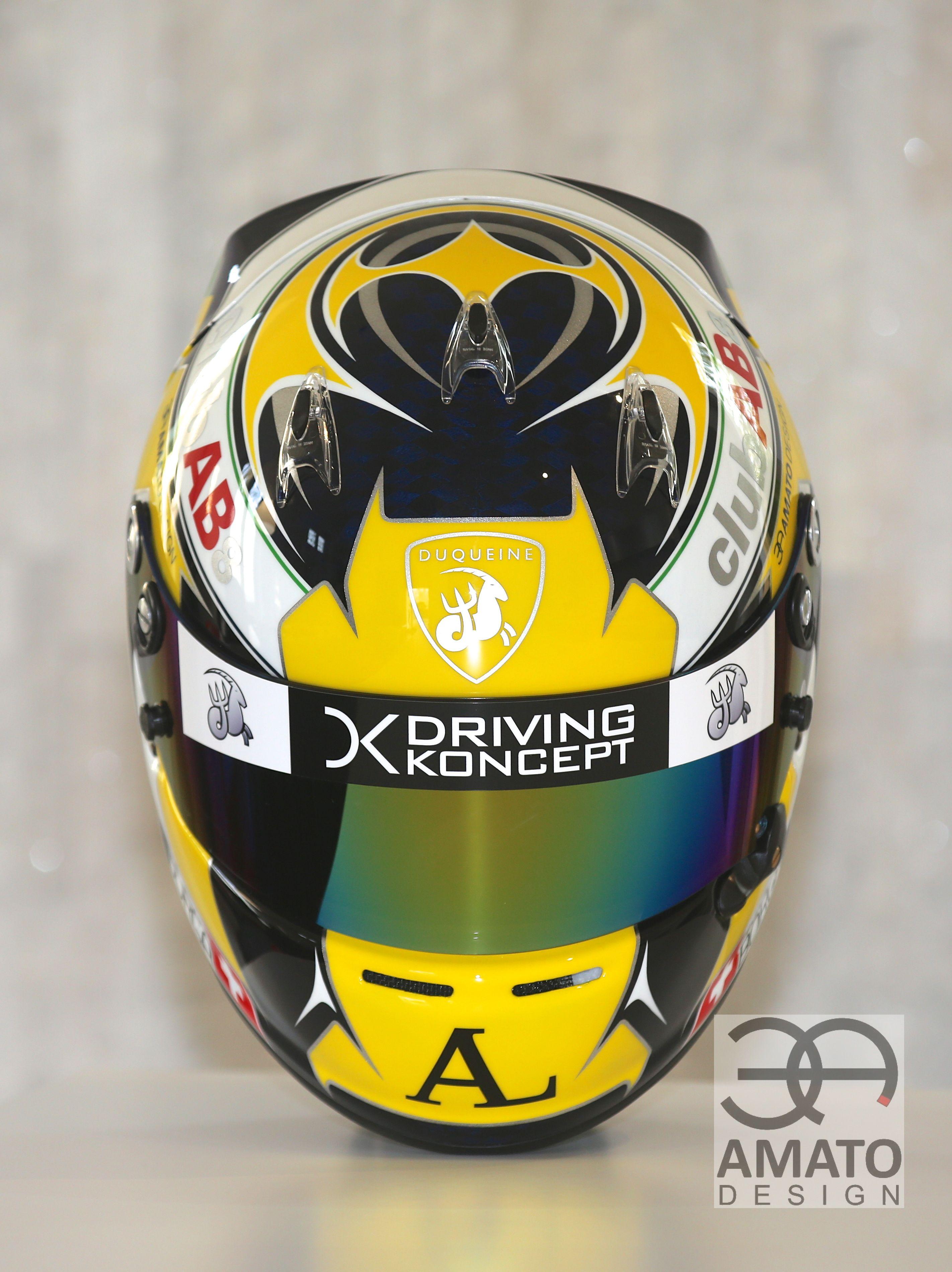 Nouveau casque AMATO DESIGN pour Antonin BORGA