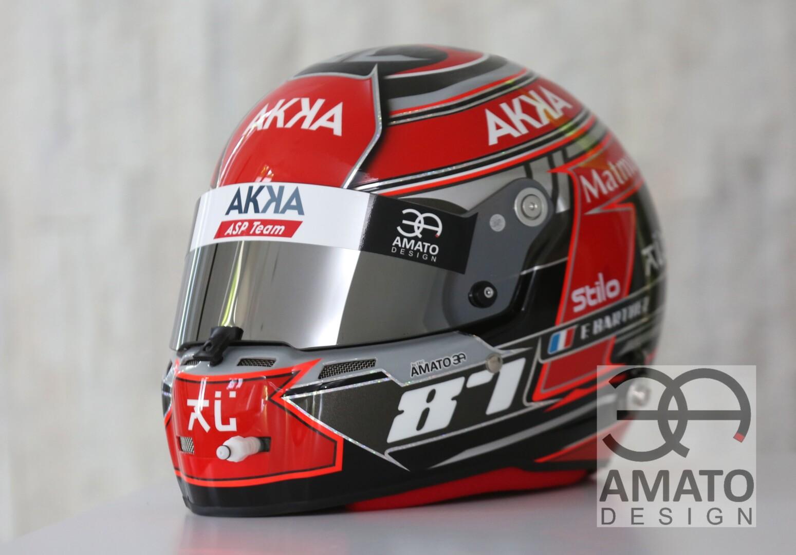 Casque conçu et réalisé par AMATO DESIGN pour le fameux pilote Fabien Barthez lors de la saison 2020.